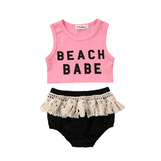 Beach Babe Crop Top Outfit
