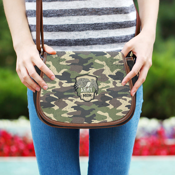 Army Mom Camouflage Saddle Bag