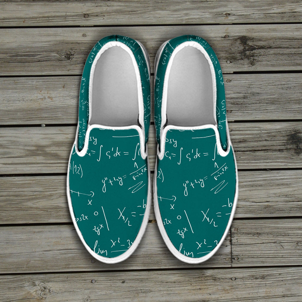 Math Teacher Slip Ons