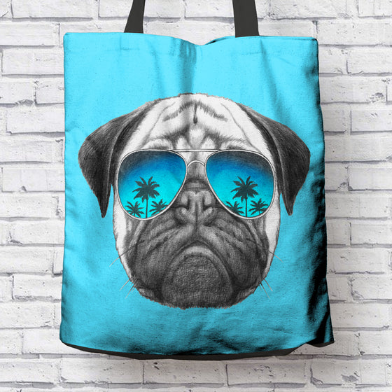 Awesome Pug Tote Bag