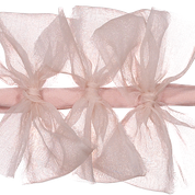 Sheer Pink Meringue Triple Bow