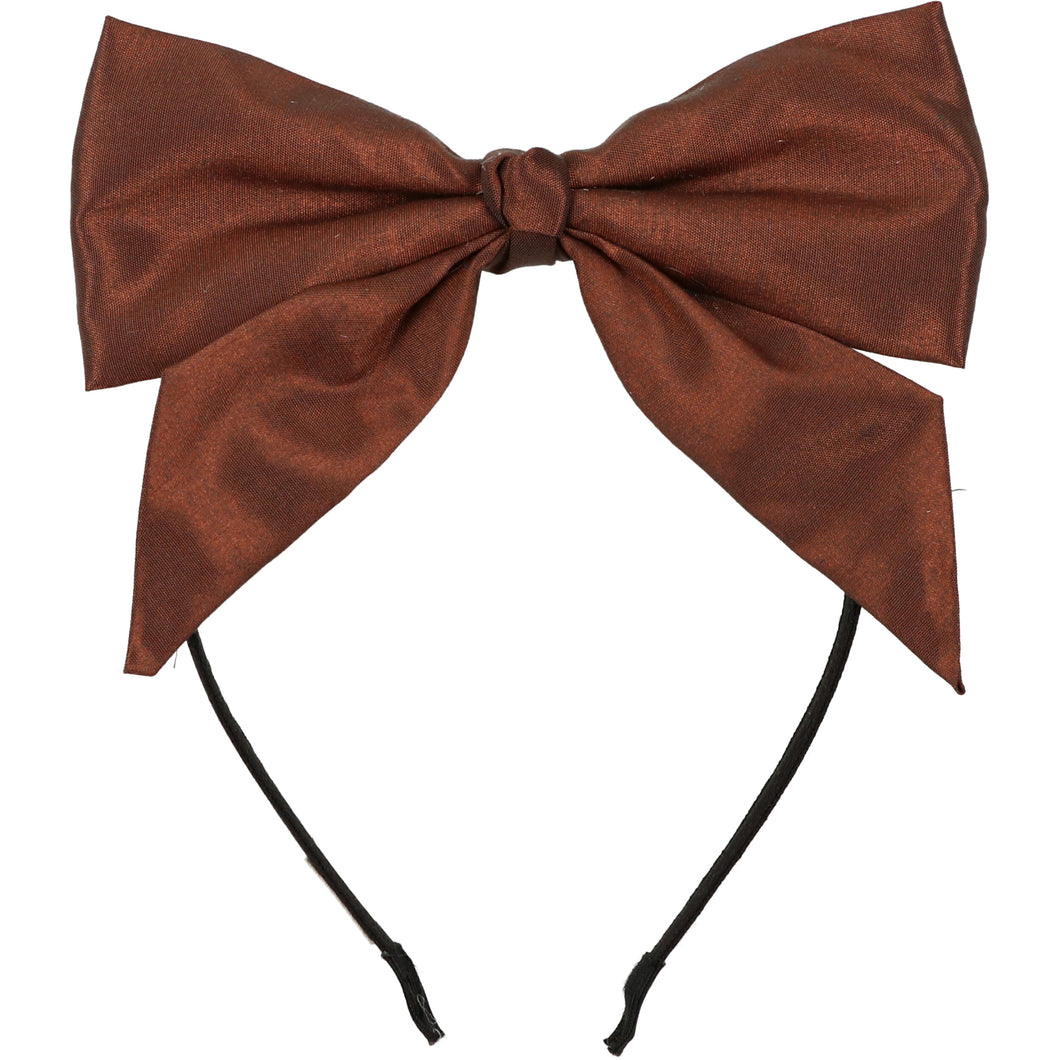 Burnt Copper Dolly Bow Headband
