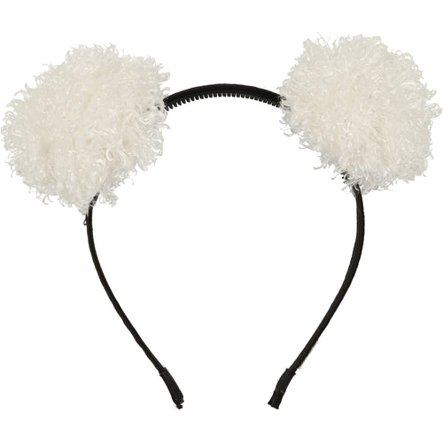 Winter White Bear Ears Headband