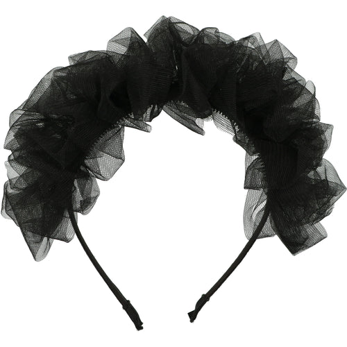 Black French Blossom Headband