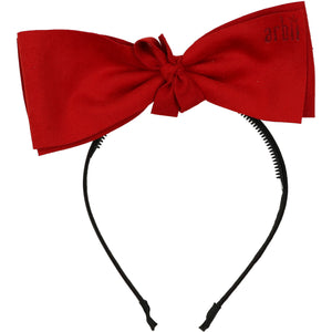 Red Suede Demii Bow Headband