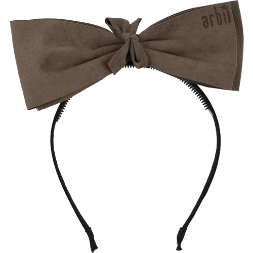Charcoal Grey Suede Demii Bow Headband