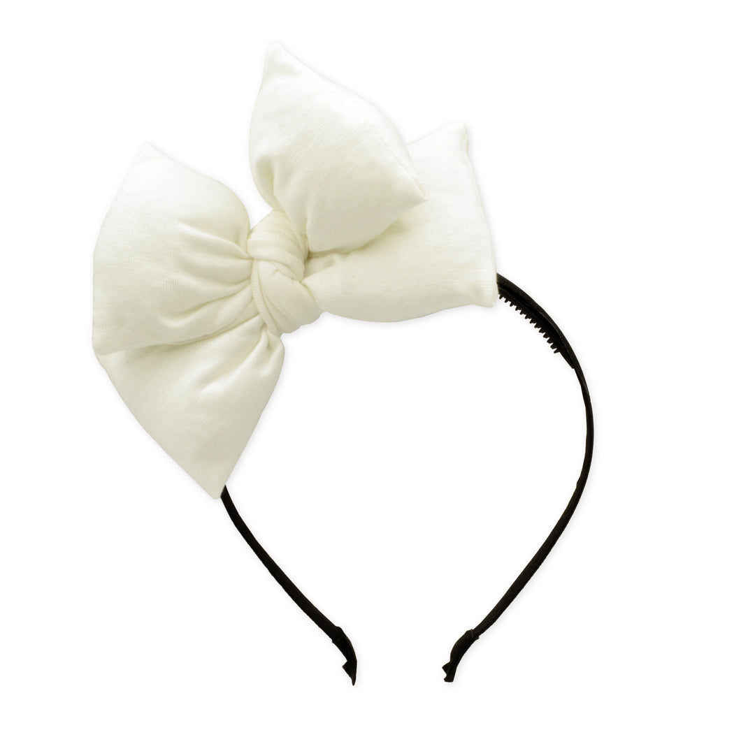 White Butterfly Bow Headband
