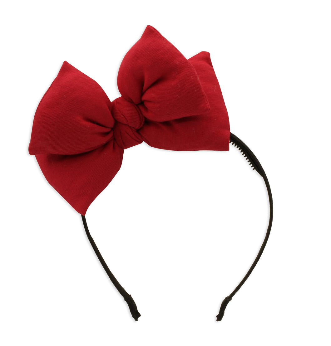Red Butterfly Bow Headband