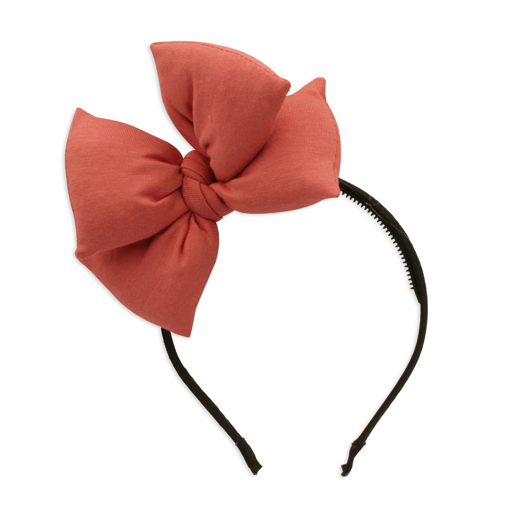 Coral Butterfly Bow Headband