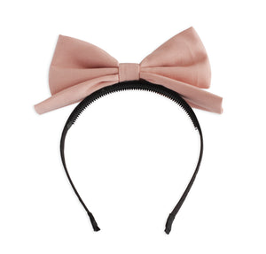 Matte Dusty Rose Dolly Bow Headband
