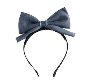 Denim Dolly Bow Headband