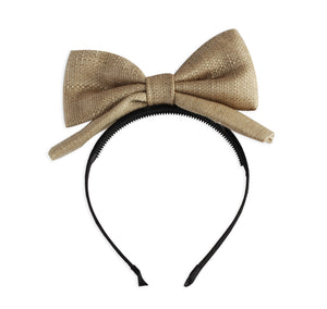 Basket Weave Dolly Bow Headband