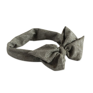 Pewter Glitter Bow Band