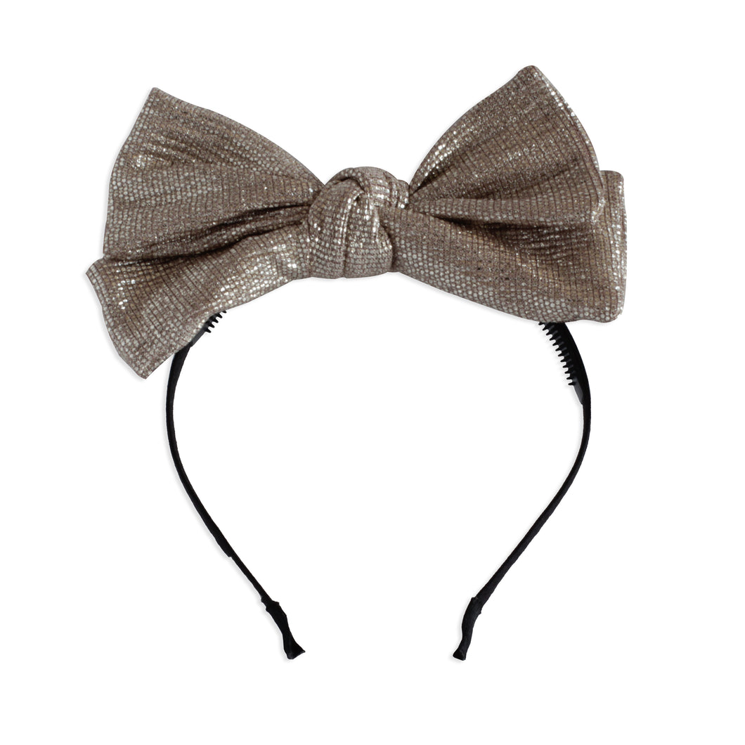 Rose Gold Metallic Layer Bow Headband