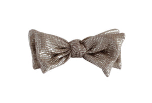Rose Gold Metallic Layer Bow Clip