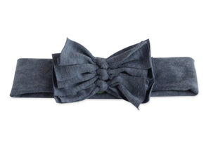 Light Denim Triolet Bow