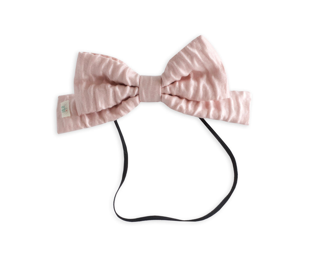 Textured Pink Toddler Dolly Bow
