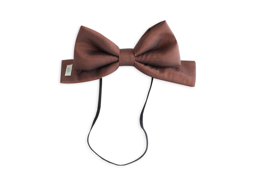 Burnt Copper Toddler Dolly Bow