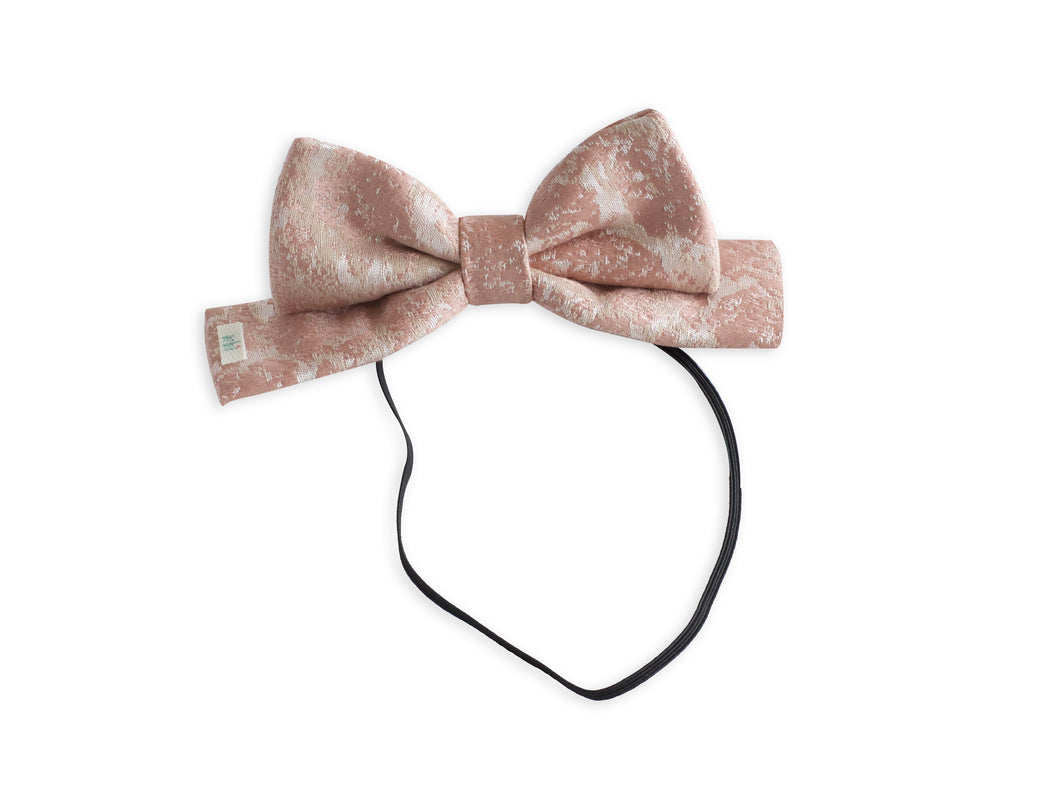 Printed Brocade Toddler Dolly Bow