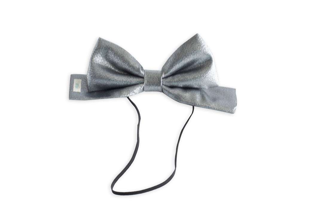 Silver Toddler Dolly Bow