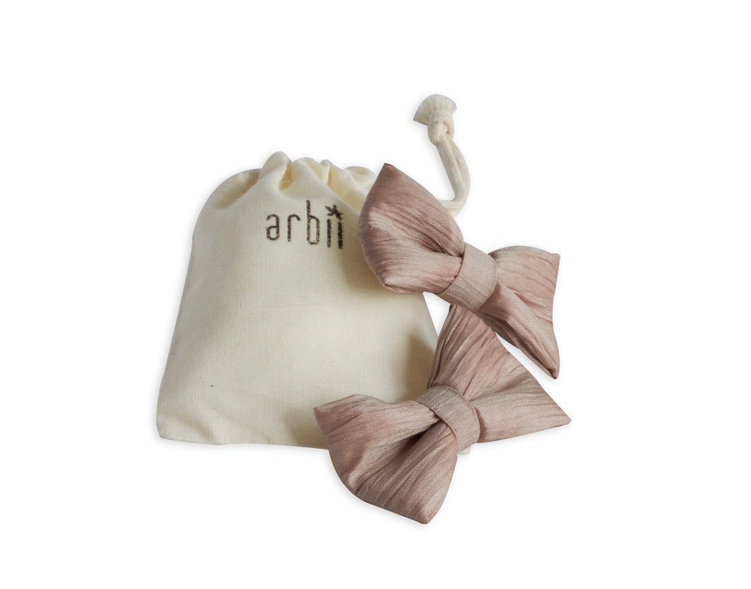 Crinkle Taupe/Pink Piggy Clips