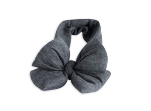 Charcoal Grey Butterfly Bow