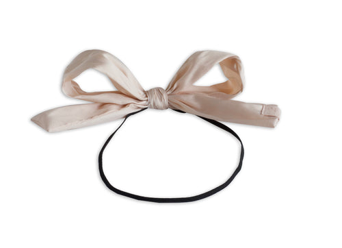 Pale Pink Silk Taffeta Party Bow