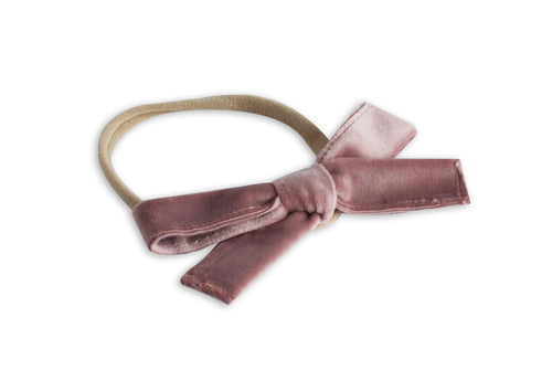 Lilac Velvet Classic Baby Bow