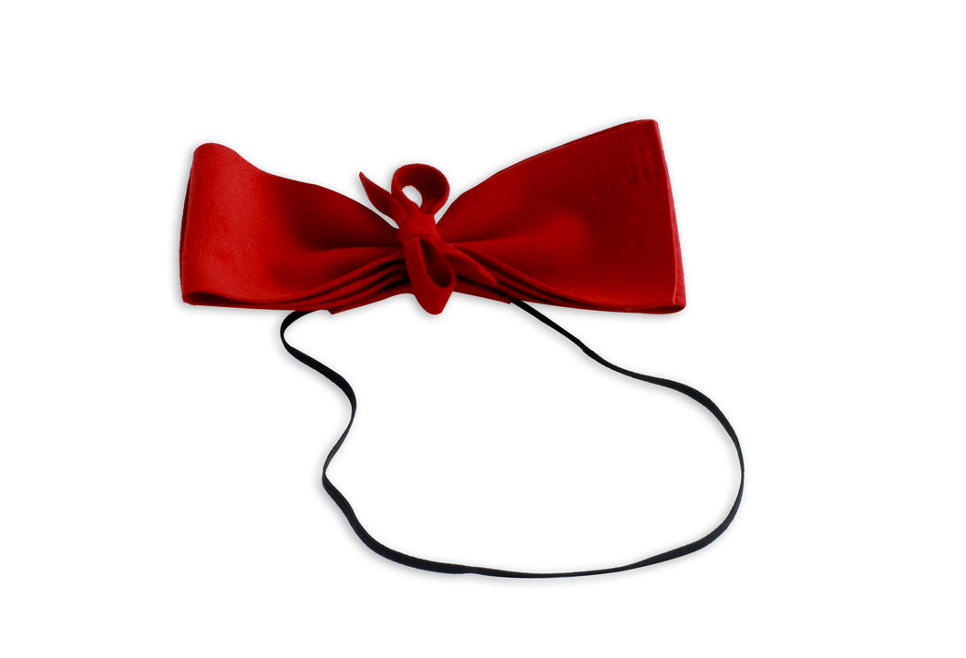Red Suede Demii Bow