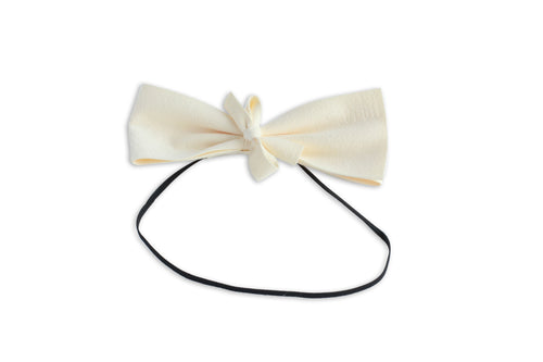 Ivory Suede Demii Bow
