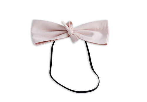 Pink Suede Demii Bow