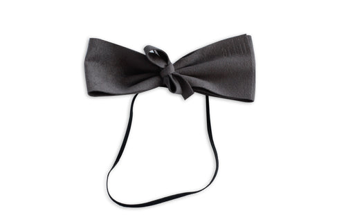 Charcoal Grey Suede Demii Bow