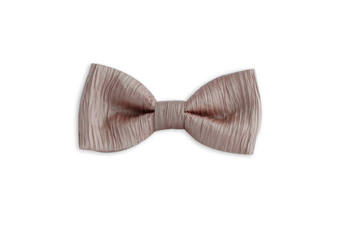 Crinkle Taupe/Pink Bowtie