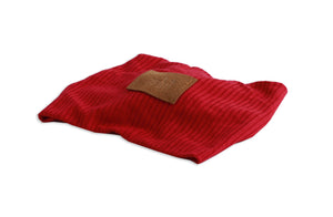 Red Twisted Ribbed Turban