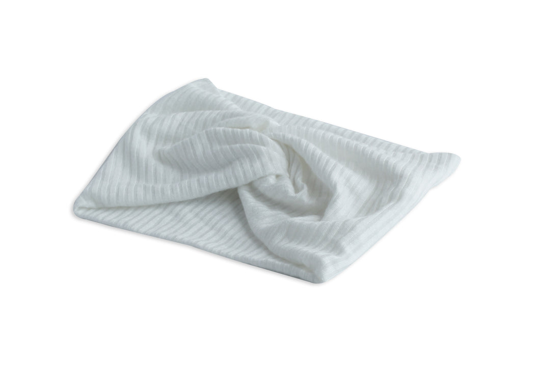Winter White Twisted Ribbed Turban