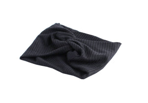 Black Twisted Ribbed Turban