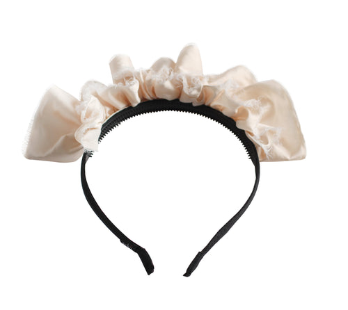 Pale Pink Ruffled Tiara Headband