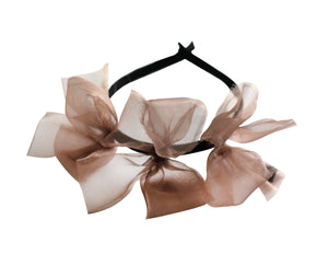 Sheer Mauve Meringue Triple Bow Headband