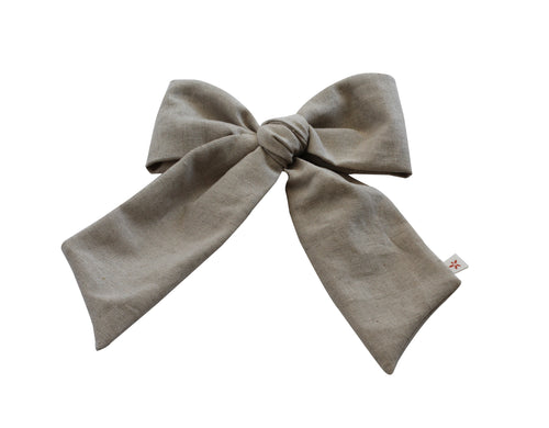 Natural Linen Pony/Side Clip