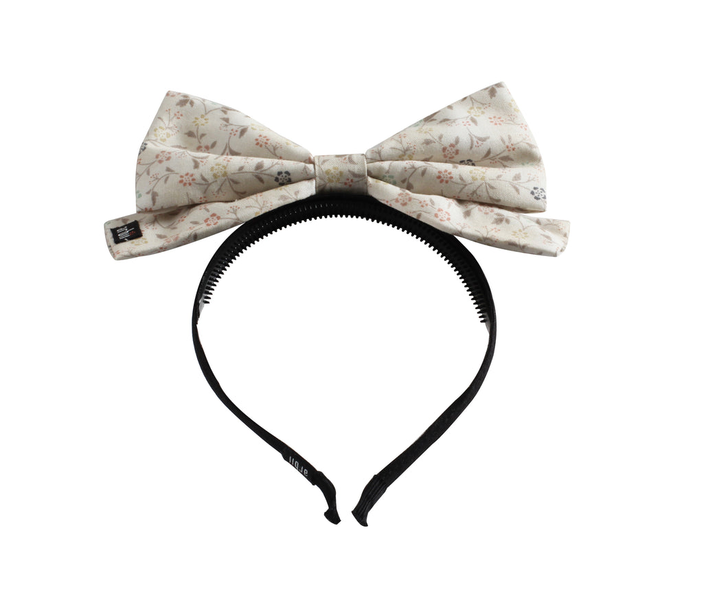Arbii Floral Dolly Bow Headband