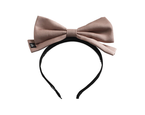 Mauve File Dolly Bow Headband