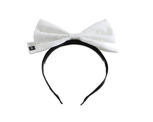 Swiss Dott Dolly Bow Headband