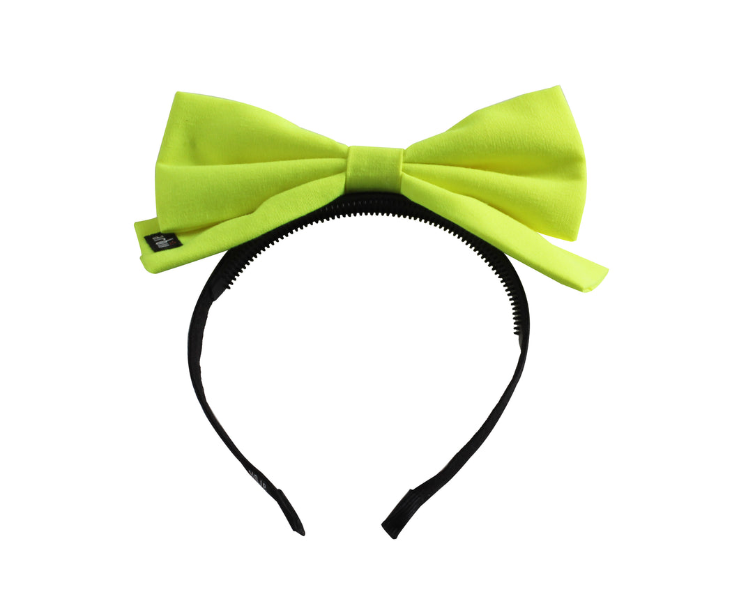 Citrus Neon Dolly Bow Headband