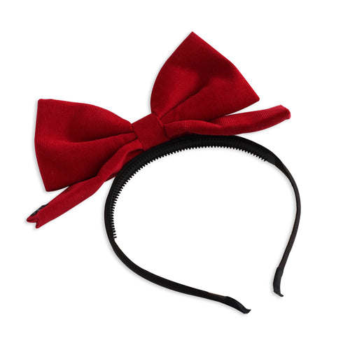 Red Corduroy Dolly Bow