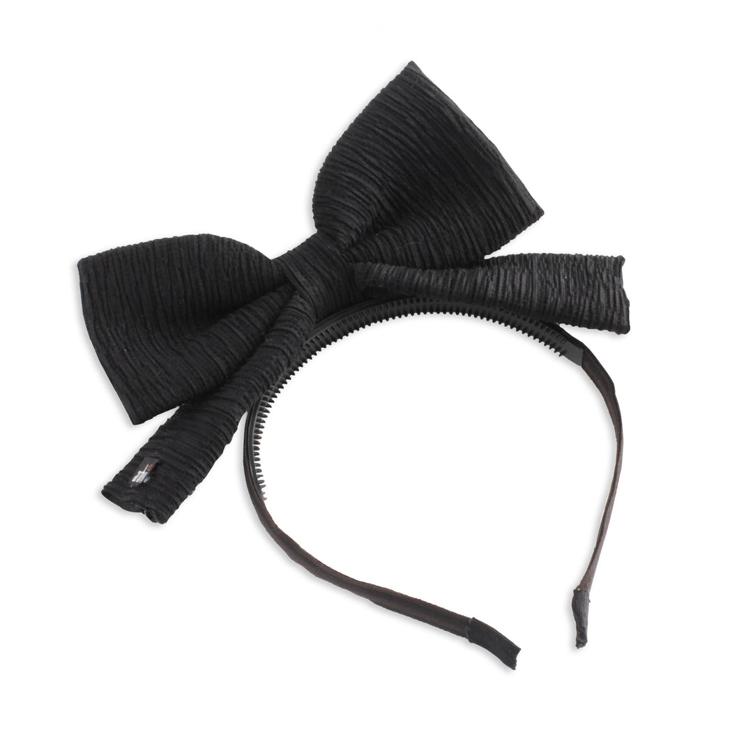Black Wrinkle Dolly Bow