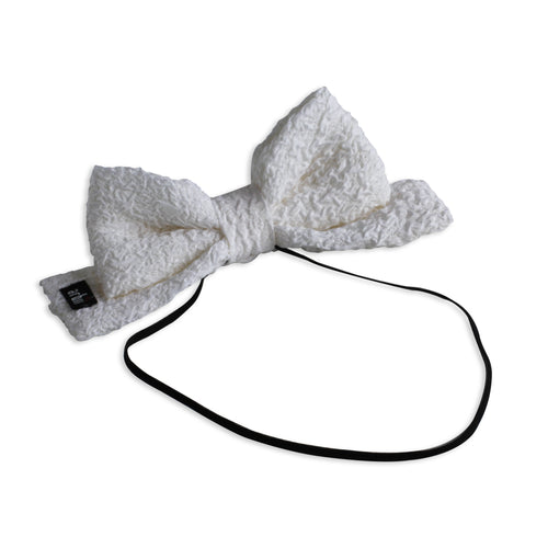Off White Bubble Dolly Bow Baby Band