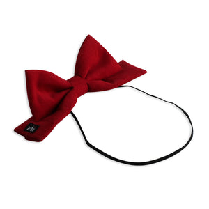 Red Corduroy Dolly Bow Baby Band
