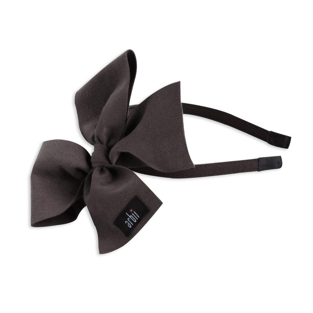Black Suede Celebration Bow