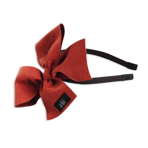 Red Suede Celebration Bow
