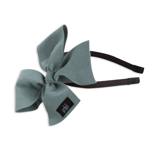 Dusty Blue Suede Celebration Bow